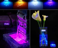 Led Vase Base Light 1 2 Pcs 10 Led Rgb Colorful Waterproof Vase Base Light W Remote