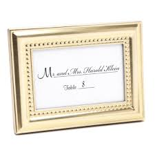 picture frame wedding favors beaded gold place card holder frame 3 or less wedding favors