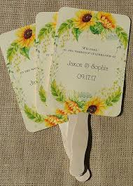 personalized folding fans for weddings personalized fans for weddings wedding fans sunflower wedding