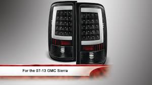 2008 chevy silverado led tail lights 07 13 gmc sierra led tail lights youtube