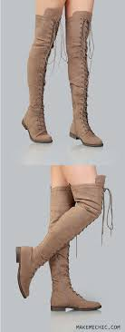 s boots taupe thigh high suede combat boots taupe makemechic com taupe shoe