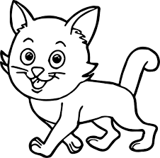 walking cat coloring page wecoloringpage