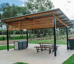 Roof Trellis Wood And Steel Shade Structure With Shed Roof Trellis Pergolas