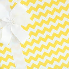 yellow wrapping paper party paper gift wrap chevron lemon drop by