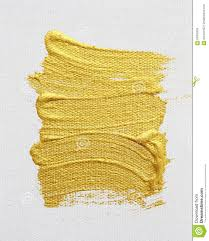 strokes of gold acrylic paint isolated on white illustration