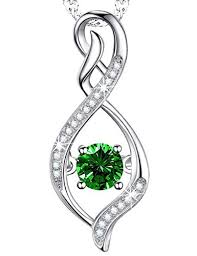 silver emerald necklace images Emerald necklace infinite love jewelry sterling silver jpg