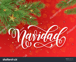spanish merry christmas navidad background decoration stock vector