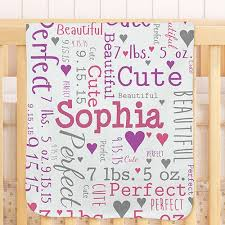 personalized baby word throw blanket giftsforyounow