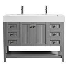 20 In Bathroom Vanity by Pavia 48 In W X 20 In D Vanity In Grey With Acrylic Vanity Top