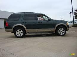 Ford Explorer Awd - aspen green metallic 2003 ford explorer eddie bauer awd exterior
