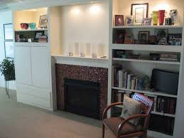 Fireplace Mantels With Bookcases Apartments Elegant Family Room Decor Ideas With Classic Teak Wood