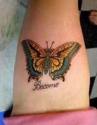 beautiful monarch butterfly tattoo on thigh legs for women