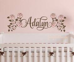 Wall Name Decals For Nursery Personalized Name Decal Baby Name Nursery Wall Decals