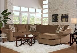 Chocolate Living Room Set Lago Vista Chocolate 3 Pc Sectional Living Room Living Room Sets