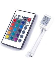 24key ir remote controller for rgb led strip lights 4 pin dc12v
