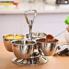 popular stainless steel condiment set buy cheap stainless steel