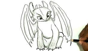 draw toothless train dragon