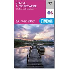 kendal u0026 morecambe inc windermere u0026 lancaster map os