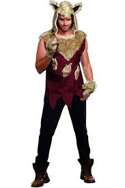 Wolf Costume Red Multi 2 Piece Big Bad Wolf Costume Mens Costumes Mens