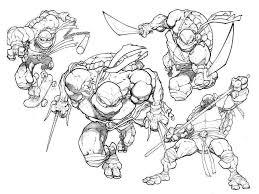 teenage mutant ninja turtles coloring pages printable boy