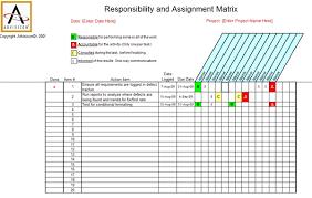 Simplified Raci Chart Advisicon Rasci Matrix Template