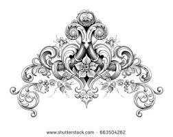 vintage baroque frame border corner stock vector