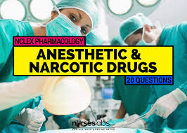 pharmacology anesthetic and narcotic drugs 20 items u2022 nurseslabs
