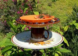 garden art bird feeders