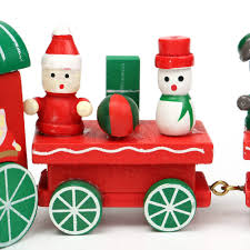 wooden christmas design train newest 4 piece wood xmas train