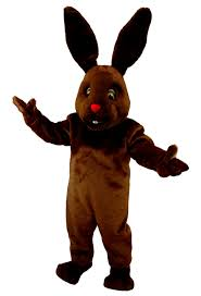 buy chocolate bunny mascot rabbit costume t0223 mask us from