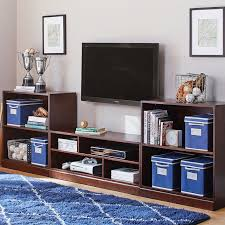 Dark Bookcase Stack Me Up Media Bookcase Set Pbteen
