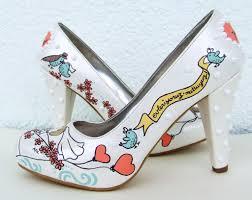 wedding shoes etsy painted wedding shoes glendalough manor