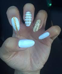 manicure monday white gel nails