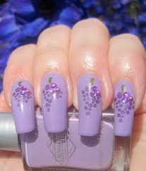 craft nail bejeweled grapes