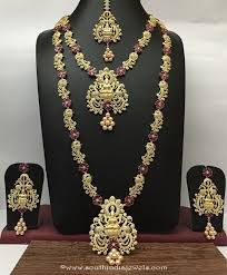 bridal jewelry necklace sets images Imitation ruby bridal jewellery sets south india jewels jpg