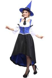 witch costumes blue white storybook witch costume witch costumes for women