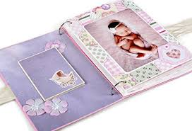 baby girl photo album kristabella creations baby girl scrapbook album baby