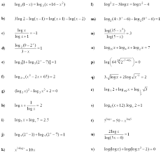 logarithmic equations and inequalities exercise 3