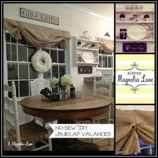 tutorial how to make a no sew diy burlap window valance 11 burlap valances collage