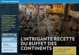 texto siege social l intrigante recette du buffet des continents la presse
