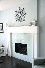 glass tile fireplace surround ideas modern designs photos subway