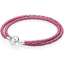 pink leather bracelet images Pandora bracelets black friday 2016 double honeysuckle pink jpg