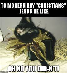Jesus Cat Meme - oh no you didn t cat byron imgflip