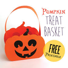halloween paper pumpkin basket printable baskets pumpkins and