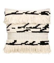 Hm Com Home by Check This Out Cushion Cover In Textured Weave Cotton Fabric With