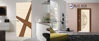 Designer Door Blue Sign Print Manufacturer And Supplier Of Hand Cut Door Paper