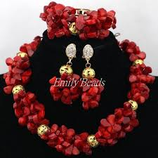 coral beads necklace images Chilazexpress costume african coral beads necklace bracelet earrings jpg