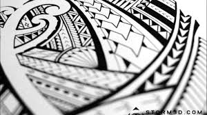 a samoan tattoo design timelapse youtube i created polynesian half