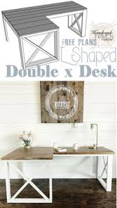 Office Desk Plans Woodworking Free by L Shaped Double X Desk U2013 Handmadehaven Office Tutorials