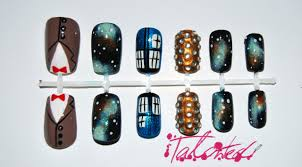 doctor who inspired nail art talonted lex